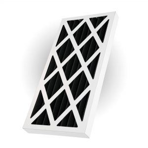 Activated Carbon Pleated Panel Air Filter Polyester Medium