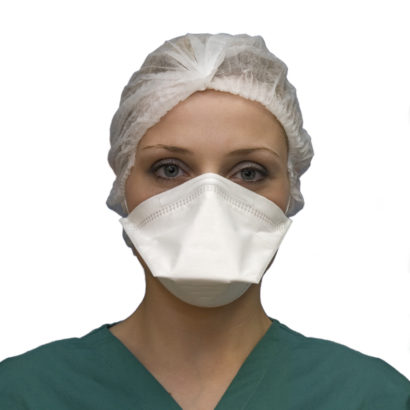 Respirator Face Mask FFP2 NR Flat Fold Front View