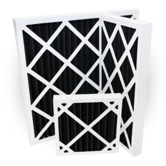 Activated Carbon Pleated Panel Air Filters Polyester Various Sizes