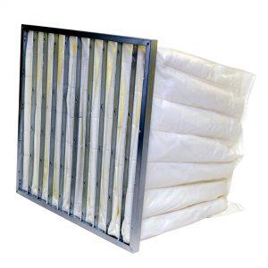 Pocket Air Filter Metal Frame White Polypropylene
