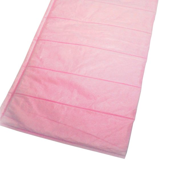 Cut Pockets Air Filter Media Polypropylene Pink F7