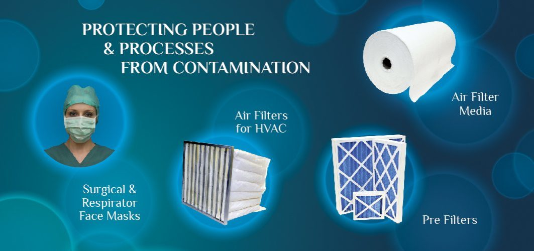 Protecting People and Processes from Contamination : Irema Air Filters for HVAC, Air filter Media, Pre-filters, Surgical and respirator face masks